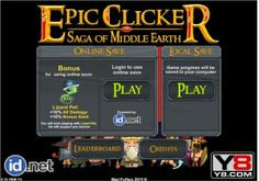 #Cookie_Clicker, #CookieClicker, #Cookie_Clicker_play, #Cookie_Clicker_game, #Cookie_Clicker_online Epic Clicker Saga Of Middle Earth: http://cookieclickerplay.com/epic-clicker-saga-of-middle-earth.html
