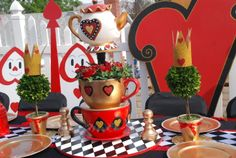Wonderland Queen of Hearts theme prop rental and decorating services provided by: WONDERLAND PARTY PROPS  http://www.facebook.com/pages/Wonderland-Party-Props/159537750764498  Contact for reservations :  661 250-8164