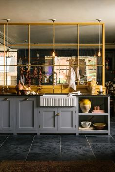 The Real Shaker Kitchen from the brand new Bond Street showroom of deVOL Kitchens Home Design, Design Ideas, Interior Design, Devol Kitchens, Tuscan Kitchens, Shaker Furniture, Corner Cupboard, Glass Partition, Types Of Rooms