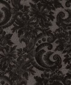 Scenic (CA8174/092) - Carlucci di Chivasso Wallpapers - A flamboyant flocked, trailing floral damask design- show here in black on a silver background. Paste the wall product. Other colours available. Please request a sample for a true colour match.
