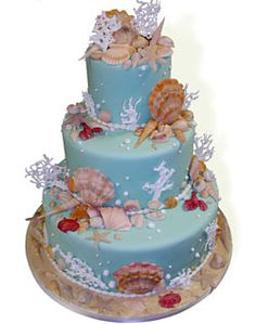 Oceanside Wedding Cake by lynngrace23, via Flickr