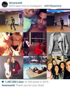 From Facebook Timor Steffens (Jan. 2 2016) A little recap of 2015... My #2015bestnine  Thank you everyone for these likes!❤