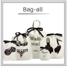 Bag all トラベル小物 【NY発ブランド】Bag-all☆大きさ色々 トラベルバッグ 5点セット