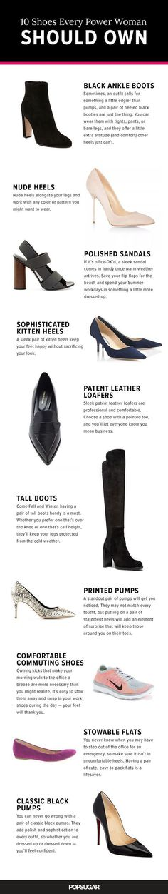 Tendance Chaussures The 10 Shoes Every Power Woman Should Own Tendance & idée Chaussures Femme Description These 10 pairs are the essentials in your work wardrobe: think everything from classic pumps to lust-worthy loafers. Tall Leather Boots, Black Ankle Boots, Leather Loafers, High Boots, Me Too Shoes, Women's Shoes, Shoe Boots, Blue Shoes, Business Fashion