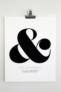 Ampersand Art Print  Black & White 11 x 14 by shopampersand, $18.00