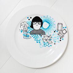 Kris Atomic | Painted ceramics / #illustrations #design #kitchen