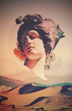 vaporwave sculpture bloom - /u/seth_startix Sculpture Art, Sculptures, Vaporwave Wallpaper, Vaporwave Art, Photocollage, Glitch Art, Michelangelo, Graphic Design Inspiration, Pattern Art