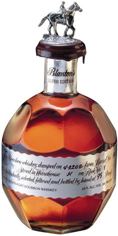 Blanton's Silver Edition - want it! Wine And Liquor, Liquor Bottles, Wine And Beer, Blanton's Bourbon, Bourbon Drinks, Eclectic Cafe, Scotch Whiskey, Liqueurs, Gastronomia