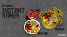 Instant Ramen by ohmysims at Mod The Sims