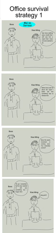 Follow: http://maisoserious.com #office #strategy #funny #jokes Office survival strategy 1