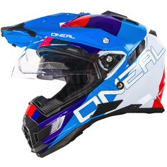 2016 ONeal Sierra Adventure Helmet - Edge White Red Blue