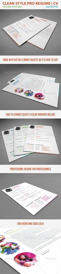 Minimalist One Page Resume (CV) Resume cv, Cv template and Template - one page resume