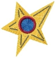 Primitive Star 4x4 | Primitive | Machine Embroidery Designs | SWAKembroidery.com HeartStrings Embroidery
