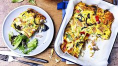 Image: Roast vegetable frittata with mackerel