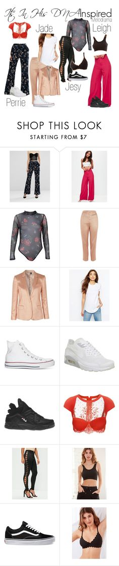 """""""Little Mix Lorde Melodrama Inspired"""" by katiehorror ❤ liked on Polyvore featuring self-portrait, Missguided, Boohoo, Topshop, ASOS, Converse, NIKE, Fila, La Perla and Vans"""