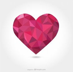 Triangular vector heart shape