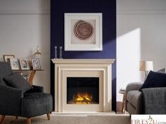 The Flamerite Princeton LED electric fireplace suite is a stylish contemporary electric fireplace suite new to the Flamerite range. Comes complete with the OmniGlide moving glass fronted log effect electric fire.