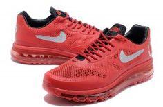 Tienda 2014 Nike Air Max 1 2013 QS USATF Hombre Rojo/Negro Zapatos