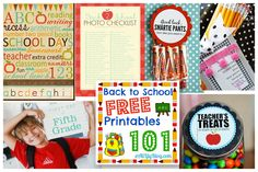 101 Back to School Free Printables from AliLilly, featured by printabledecor.net