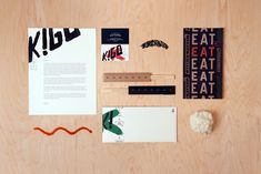Restaurant branding Design Ideas and examples on concept development, graphic and interior design of the best branded restaurants. Stationary Branding, Stationery Design, Logo Branding, Logos, Collateral Design, Brand Identity Design, Logo Design, Restaurant Branding, Design System