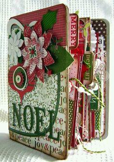 Christmas Scrapbook Mini Premade Album NOEL by kitsnbitscraps Christmas Mini Albums, Christmas Journal, Christmas Scrapbook, Christmas Minis, Christmas Projects, Paper Bag Album, Mini Photo Albums, Theme Noel, Diy Décoration