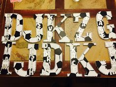 A gift for the soccer team after the season! Wooden letters