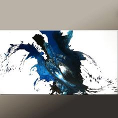 Feels like determination - this is also going on my birthday list!  CUSTOM Made to Order Abstract Canvas Art Painting 48 by wostudios, £137