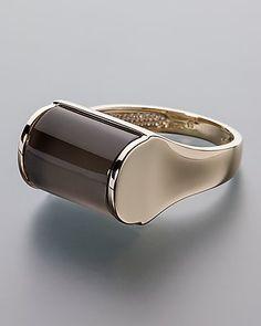 Goldener Ring mit dunklem Mondstein -von Sogni d´oro #sognidoro #sogni #doro #schmuck #edelstein #ring #jewelry #gemstone