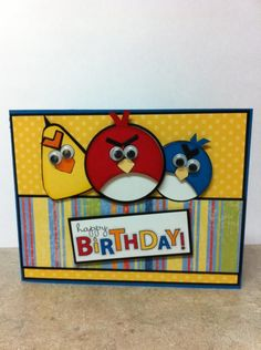Gettin my hands dirty...: Angry Birds Card....