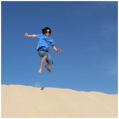 Koen  - Cabo Verde - sand, beach, jump for joy