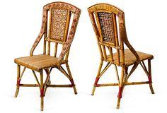 Rattan Chairs, Pair on OneKingsLane.com
