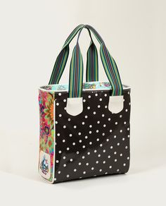 For the days we are dreaming about being on the beach. Love the Polka Dot Black Classic Tote!