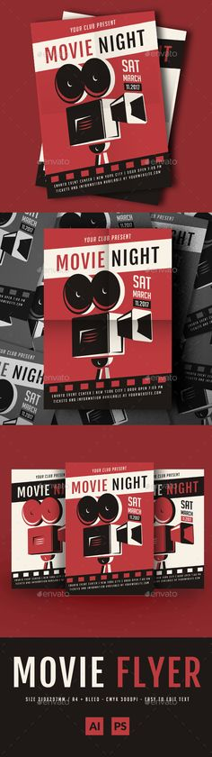 Movie Night Flyer  Flyer Templates  Flyer Templates