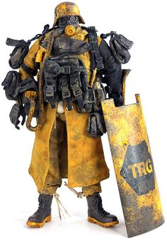 Wwrp emgy trg trooper Grunt by Ashley Wood from th. Character Concept, Character Art, Concept Art, Character Design, Ashley Wood, Vinyl Toys, Vinyl Art, Gangsters, Fallout