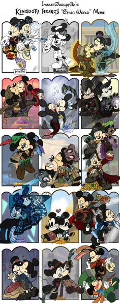 Mickey and Minnie drawn in the style of Kingdom Hearts worlds. This is too cute for my own heart to bear! Old Disney, Cute Disney, Disney Girls, Disney Magic, Disney Art, Mickey Mouse And Friends, Mickey Minnie Mouse, Disney Mickey, Disney And Dreamworks