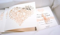 Cosmetic Whimsical Heart Wedding Invitations - so delicate