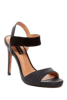 8938dc68b3ad Steven By Steve Madden Black Ripleigh Heel Sandals