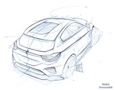 BMW X5 sketch