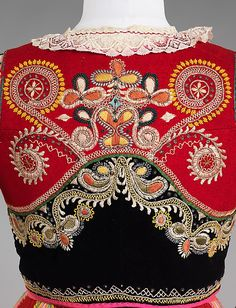 Portuguese national costume,   fourth quarter 19th century   Medium:   wool, silk, cotton, metal, glass