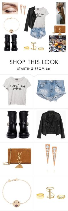 """""""19/08/16"""" by milena-serranista ❤ liked on Polyvore featuring Wet Seal, One Teaspoon, Valentino, Yves Saint Laurent, Anita Ko, Alison Lou and Charlotte Russe"""