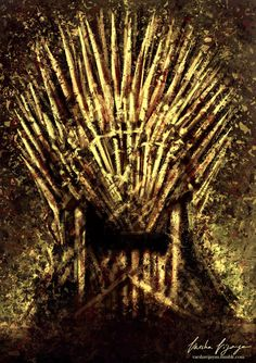 """""""When you play the game of thrones you win or you die. There is no middle ground.""""   Iron Throne Painting from 6 months back. Part of my GoT art series. Facebook Instagram Prints"""