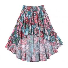 Paper Wings Tattoo Flowers Girls Hi-Lo Skirt Spring 2019 Size 10 Trendy Outfits, Kids Outfits, Cool Outfits, Teal And Pink, Kids Boutique, Zara Fashion, Girls Rompers, Fashion 2020, Tattoo Flowers