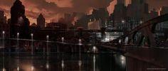 Dermot Power Batman Begins concept painting