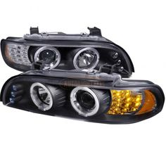 Spec-D 2LHP-E3997JM-8V2-TM | 2003 BMW 5 Series Chrome/Clear Halo LED Projector Headlights for Sedan