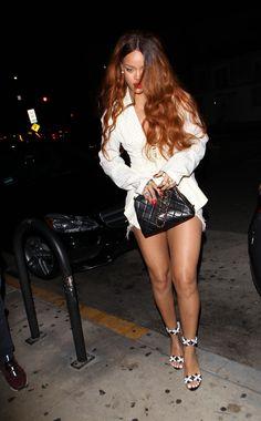 Rihanna arriving at Giorgio Baldi restaurant in LA