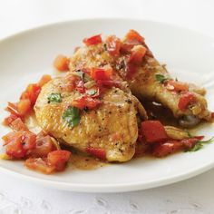 Master French chef Paul Bocuse's recipe reflects his interest in lightening up the classics. For his poulet au vinaigre de vin, he's swapped fresh tom...