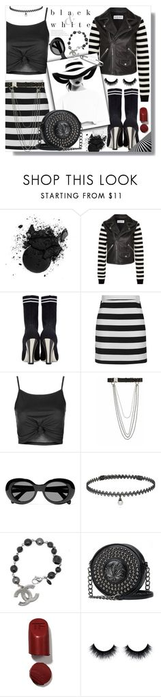 """""""Black & White"""" by queenvirgo ❤ liked on Polyvore featuring Loewe, Fendi, Topshop, Alyx, Acne Studios, BERRICLE and Tom Ford"""