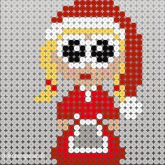 To måneder til juleaften - har I bestilt julerøde perler? Hama Beads Design, Hama Beads Patterns, Beading Patterns, Hama Beads Christmas, Christmas Angels, Xmas, Christmas 2017, Duck Crafts, Foam Crafts