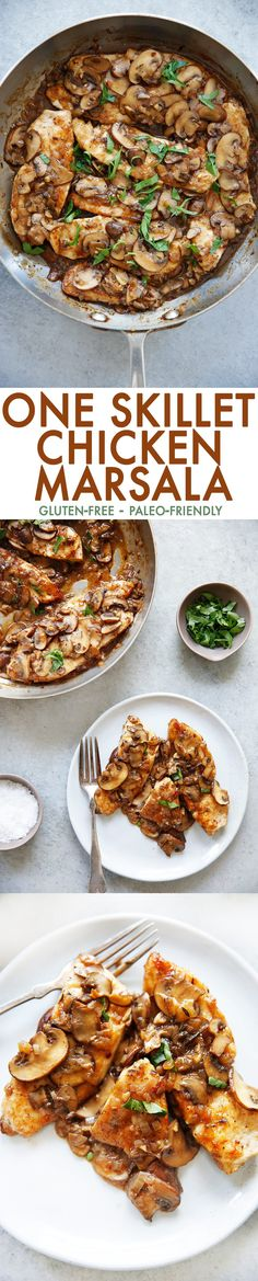 One Skillet Chicken Marsala (Gluten-Free) - Lexi's Clean Kitchen