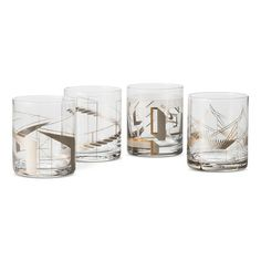 Metallic Cocktail Glasses 4 ct Clear/Copper - Modern by Dwell Magazine : Target
